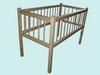 Кроватка детская (ясельная) из массива сосны